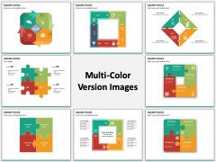 Square puzzle multicolor combined