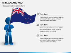 New zealand map PPT slide 19
