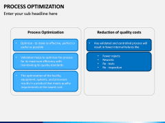 Process Optimization PPT Slide 13