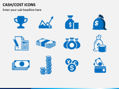 Cash Cost Icons PPT Slide 2