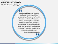 Clinical Psychology PPT slide 1