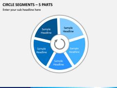 Circle Segments – 5 Parts PPT Slide 1