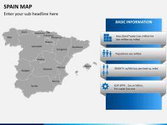 Spain map PPT slide 14