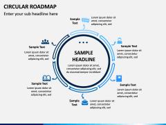 Circular Roadmap PPT Slide 8