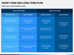 Short Term and Long Term Plan PPT Slide 10