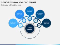 5 Circle Steps on Semi Circle Shape PPT slide 1