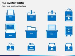 File Cabinet Icons PPT Slide 1