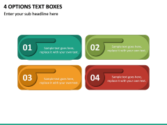 4 Options Text Boxes PPT slide 2