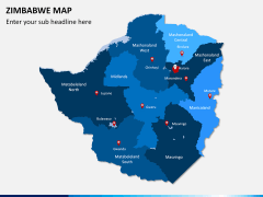 Zimbabwe Map PPT slide 1