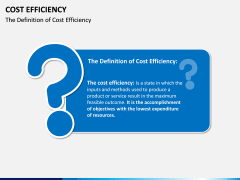 Cost Efficiency PPT Slide 1