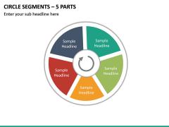 Circle Segments – 5 Parts PPT Slide 2
