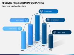 Revenue Projection Infographics PPT Slide 1