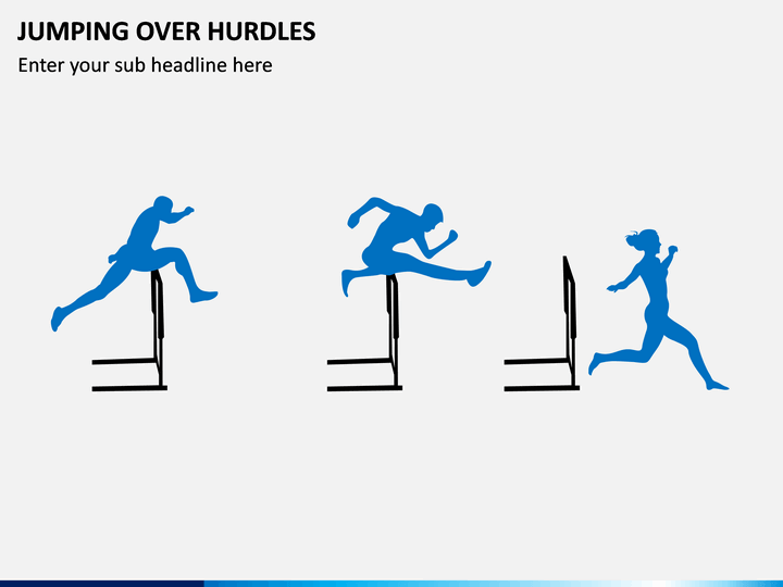 Jumping Over Hurdles PPT Slide 1