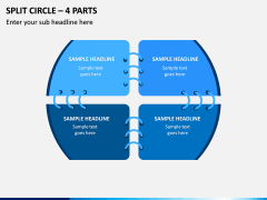 Split Circle – 4 Parts PPT Slide 1