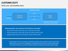 Customs Duty PPT Slide 8