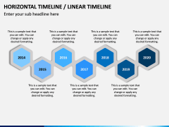 Horizontal Timeline PPT Slide 16