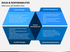 Roles and Responsibilities PPT Slide 1