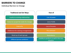 Barriers to Change PPT slide 16