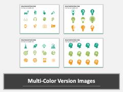 Idea Innovation Icons PPT slide MC Combined