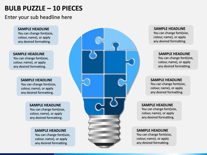 Bulb Puzzle – 10 Pieces PPT Slide 1