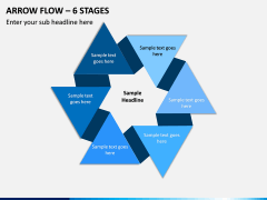 Arrow Flow – 6 Stages PPT slide 1