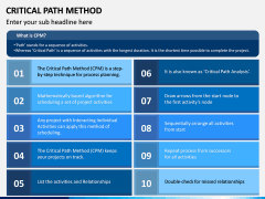 Critical Path Method PPT Slide 1