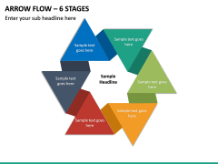 Arrow Flow – 6 Stages PPT slide 2