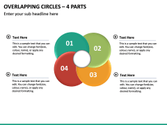 Overlapping Circles – 4 Parts PPT Slide 2