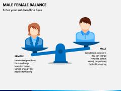 Male Female Balance PPT Slide 1