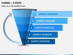 Funnel – 5 Steps PPT Slide 1