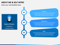 About Me / Self Intro PPT Slide 3