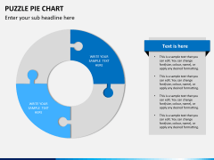 Puzzle pie chart PPT slide 7