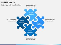 Puzzle pieces PPT slide 2