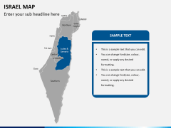 Israel Map PPT slide 8