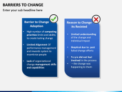 Barriers to Change PPT slide 7