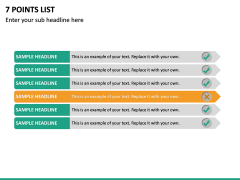7 Points List PPT Slide 2
