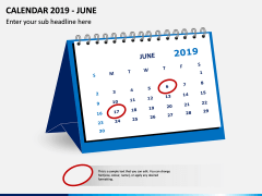 Desk Calendar 2019 PPT Slide 6