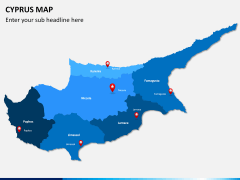Cyprus map PPT slide 1