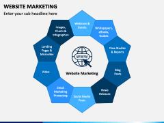 Website marketing PPT slide 1