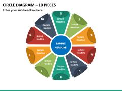 Circle Diagram – 10 Pieces PPT Slide 2