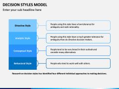 Decision Style Model PPT Slide 12