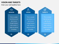 Vision and Targets PPT Slide 1