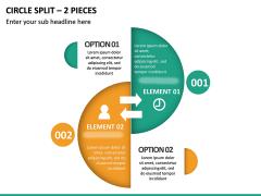 Circle Split – 2 Pieces PPT Slide 2