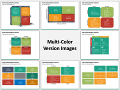 Time management matrix multicolor combined