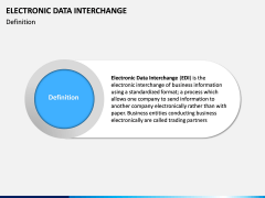 Electronic Data Interchange (EDI) PPT slide 1