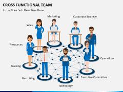 Cross functional teams PPT slide 1