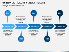 Horizontal Timeline PPT Slide 19