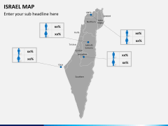 Israel Map PPT slide 16