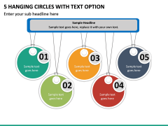 5 Hanging Circles with Text Option PPT slide 2