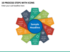 10 Process Steps with Icons PPT slide 2